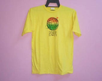 Vintage 24 hour television love saves the earth tee shirt medium size m made in japan