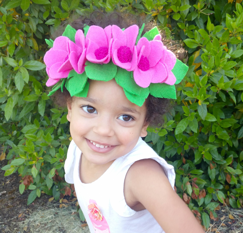 Hawaiian Flower Crown Tropical Flower Crown Felt Flower Crown
