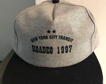 Vintage New York City Transit Snap Back Trucker Hat