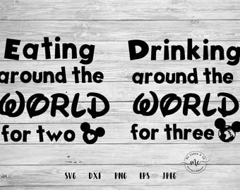 Drinking Around the World, Food and Wine Festival, Epcot Food and Wine, Cricut, Silhouette, Svg Files, Cut Files, svg, dxf, png, eps, jpeg
