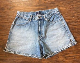 Vintage 90's High Waisted Gap Shorts mom jeans Sz 8