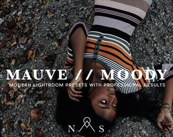 Mauve Moody Lightroom Preset Professional Lightroom Filters and Photo Editing Resources for Portraits, Weddings, Street Photography