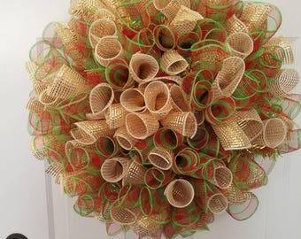 Christmas wreath/ holiday wreath/ housewarming wreath