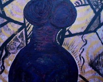 Purple & Gold Female Figure
