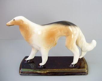 Vintage  porcelain dog figurine,greyhound,borzoi