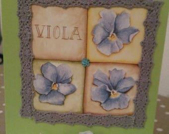 """Card 3D """"Violet party"""""""