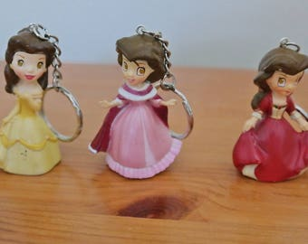 Belle Beauty and the Beast Keychain