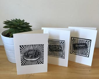 Biscuit Collection Greetings Cards – Linoprint