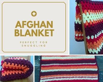 Handmade Crochet Afghan Blanket