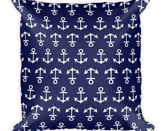Anchor Pattern Throw Pillow