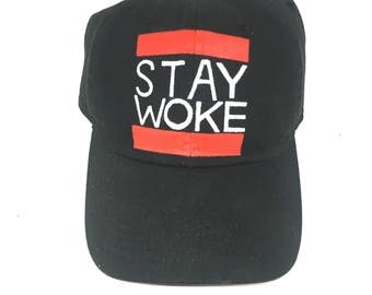 Stay Woke Dad Hat