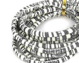 1 M cotton multicolored ethnic woven cord (5mm)