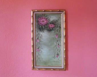 Oil Painting in Faux Bamboo Frame