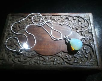 Sterling silver opalite necklace