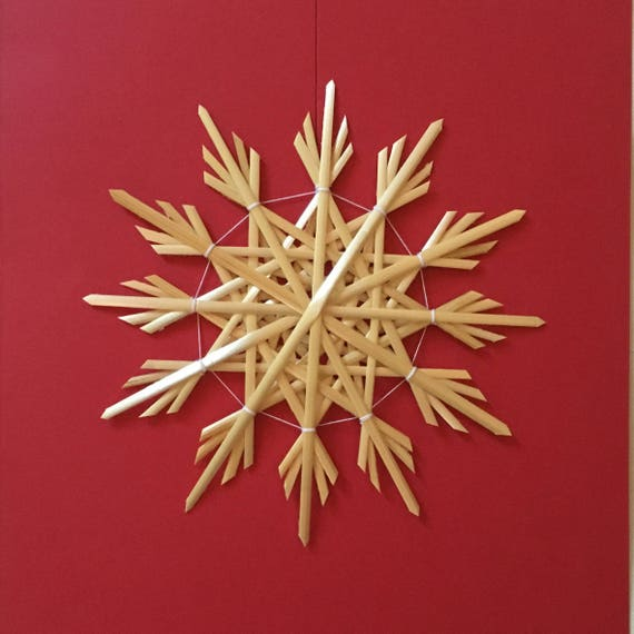 Christmas Tree Decoration - Handmade German Straw Star Ornament