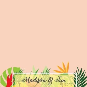 tropical wedding filter snapchat geo filter beach theme
