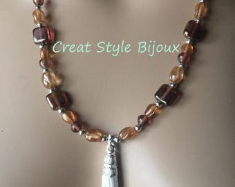 very pretty long necklace with tassel