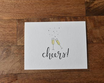 Congratulations Card, Celebration Card, Cheers, Congrats