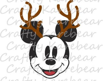 Mickey with Antlers SVG Digital File Download