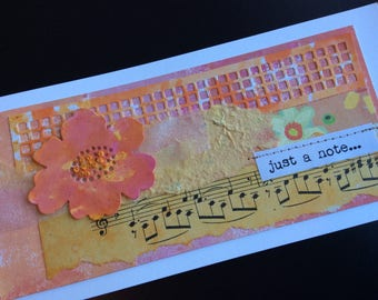 Handmade Art Card - Just a Note