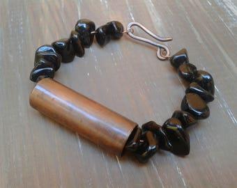 Discount gemstone bracelet, Black Onyx, copper, Onyx bracelet bracelet, bracelet, bracelet