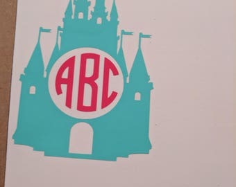 Cinderella Castle with monogram letters