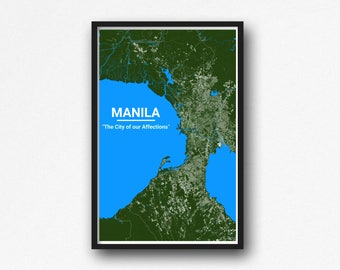 Manila, Philippines Map Wall Art - Digital Download