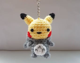 Mini Totochu keyring amigurumi crochet | keychain | plush | accessories | gifts for him | gifts for her | Pokemon inspired [Made to order]