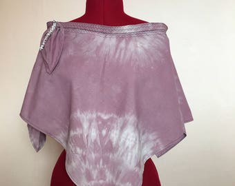Dorphy's Handmade In Yorkshire Tie Died Poncho Lavender