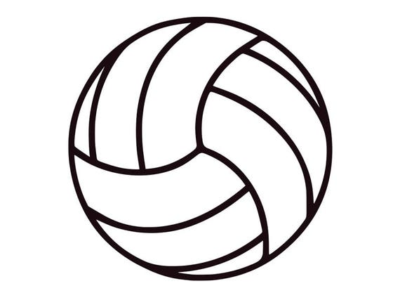 Clean image throughout printable volleyball