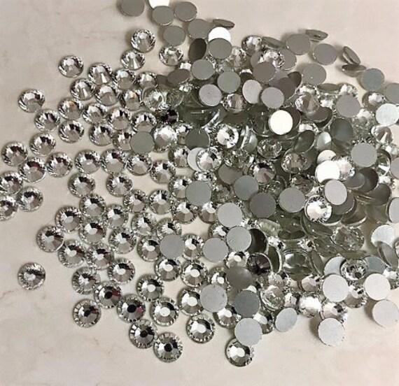 be09adbe02ed Crystal 4mm Loose Flat Back Rhinestone Packs  Swarovski Shine Rhinestones  Glue on Crystal SS16 1440Pcs