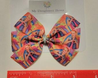 """JoJo Siwa inspired hair bow, pink hair bow, baby headband, baby hair bow, rainbow hair bow, Dance hair bow, mini 3"""" hair bow, toddler"""