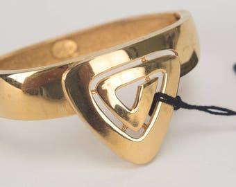 Givenchy 1976 vintage gold tone cuff bracelet