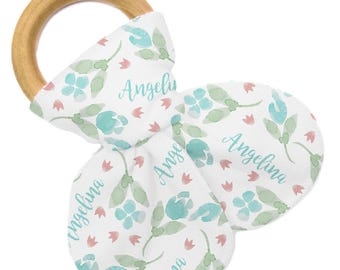 Personalized Teether - Tulip Floral