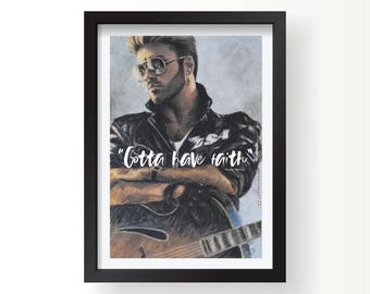 George Michael have faith tribute icon print