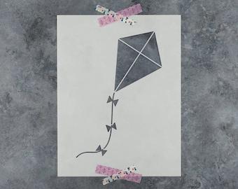 Kite Stencil - Reusable DIY Craft Stencils of a Kite Flying
