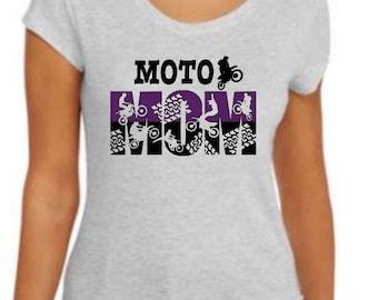 Moto Mom Tee - Motocross - Mom shirt - Gift for mom -