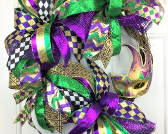 Mardi Gras Wreath, Mardi Gras Grapevine Wreath, Grapevine Wreath, Mardis Gras Decorations, Deco Mesh Wreath, Mardi Gras Decor, Fat Tuesday