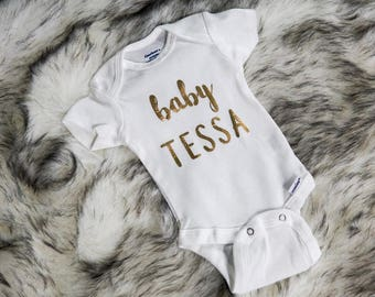 Baby Name Onesie, Baby Name, Custom Name Onesie, Personalize Onesie, Custom Onesie, Baby, Name Onesie, Any Name, Baby Shower Gift
