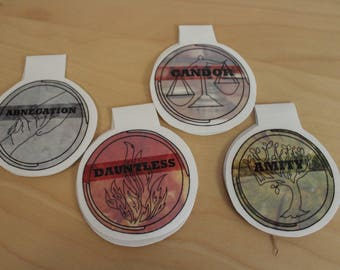 Divergent Factions Magnetic Bookmarks **LIMITED QUANTITY**
