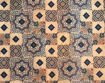 Cork Fabric (US Supplier) - Tiles Proto - Vegan Eco-Friendly - Leather Alternative