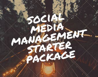 Social media management starter kit, social media audit and management for ONE month of one facebook account, social media marketing, SEO