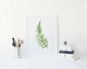 Botanical Fern Prints, Fern Print, Botanical Print, Botanical Art, Fern Art, Greenery Prints, Greenery Home Decor, Green Home Accessories