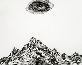 All Seeing Eye // Mountain Scene