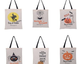 Personalized Halloween Candy Sacks with Sturdy handle