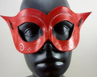 Red Spiral Masquerade Mask
