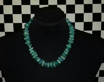 Turquoise vintage beaded necklace.