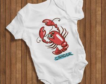 Baby Zodiac Cancer Onesie Funny Humor Hip Baby Bodysuit, Baby One Piece,New born,Joke Burp, cute baby bodysuit, colourful baby bodysuit