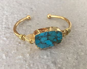 Turquoise cuff Reiki infused one of a kind