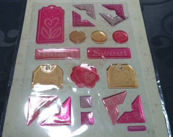 borders new angles for scrapbooking embossed stickers